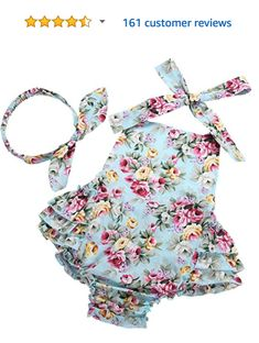 faf3a4bcb54b Baby girl rompers from Amazon! Perfect for spring and summer photo sessions.