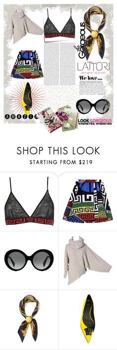 """Fashion Europeu"" by carolstos on Polyvore featuring moda, Versace, Post-It, Lattori, Zara e Magma"