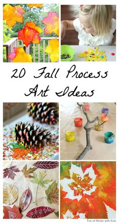 20 beautiful fall process art ideas for kids fall crafts and Autumn Activities For Kids, Fall Preschool, Autumn Crafts, Fall Crafts For Kids, Autumn Art, Autumn Theme, Craft Activities, Crafts To Do, Preschool Crafts
