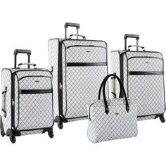 (Limited Supply) Click Image Above: Pierre Cardin Signature Spinner 4 Piece Luggage Set Gray - Pierre Cardin Luggage Sets Luxury Luggage, Best Luggage, Carry On Luggage, Luggage Sets, Travel Luggage, Travel Bags, Travel Suitcases, Travel Packing, Travel Accessories