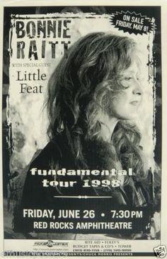 Bonnie Raitt Little Feat 1998 Denver Concert Tour Poster Blues Country Folk | eBay