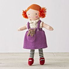 One doll's a pal. Two is company. And three's a crowd. Especially when they're these super soft, hand knit dolls with stylish outfits and pets. Plus, they're perfectly sized for toddlers, too.
