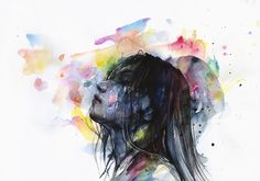 Artist's name: Agnes Cecile Artwork's title: The layers within Medium: watercolor, acrylic and pen on watercolor moleskine notebook (200g) Size: 40cm x 30cm Year: 2015