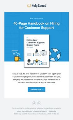 A free handbook on hiring for support! - Really Good Emails Email Template Design, Email Templates, Marketing Automation, Email Marketing, Email Design Inspiration, Design Ideas, Email Client, Best Email, Email Newsletters