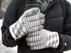 This pattern is taken from an old glove purchased years ago from a thrift shop. They were my very favorite gloves until one was lost, and now I'm so happy to have them back! I'm sure they will be your favorite as well.