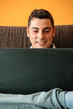 Man with his laptop by OSORIOartist on @creativemarket