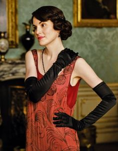 Michelle Dockery as Lady Mary Crawley in Downton Abbey (TV Series, 2014).