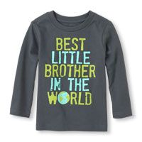 Long Sleeve 'Best Little Brother In The World' Graphic Tee