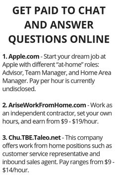 How to Generate Income From the Internet - Top 3 Companies Offering Part-Time Online Jobs - Wisdom Lives Here How to Generate Income From the Internet - Here's Your Opportunity To CLONE My Entire Proven Internet Business System Today! Ways To Earn Money, Earn Money From Home, Earn Money Online, How To Get Money, Online Jobs, Online Earning, Legit Work From Home, Work From Home Jobs, Haut Routine