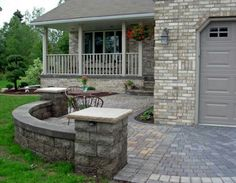 Yard Design Ideas Front Patio I Love The Idea Of A Low Wall