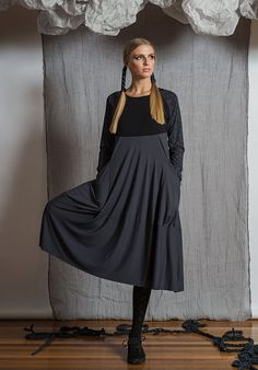 Prima dress sleeveless storm – Australian made bamboo jersey. All Rant Clothing garments are ethically made in Brisbane Australia. Brisbane Australia, Wide Leg Pants, Sustainable Fashion, Bamboo, Bell Sleeve Top, Crop Tops, Clothing, Beauty, Collection