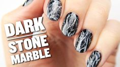 Looking for a dark and edgy nail art design that's easy to create? Try a stone marble style. I've been seeing black marble nails everywhere lately- from runw...