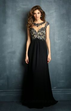 7fe3341588 Alternate view of the Night Moves 7086 Open Back Gown with Sleeves image