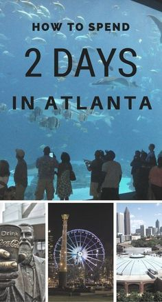 2 Days in Atlanta - this itinerary samples Atlanta, Georgia's strong cultural history, arts, attractions and entertainment scenes. Weekend Trips, Vacation Trips, Vacation Spots, Vacation Ideas, Vacation Places, Weekend Getaways, Oh The Places You'll Go, Places To Travel, Travel Destinations