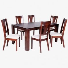 Juego Comedor Mónaco Rectangular, 6 Sillas (Chocolate) Glass Dining Room Table, Dining Chairs, Sisal, Dining Room Furniture Design, Chocolate, Home Decor, Wooden Chairs, Dining Table, Home Furniture