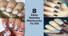 8 Easy Holiday Manicures To DO Nails At Home, Frosty The Snowmen, Diy Makeup, Diy Nails, Manicures, Nail Tips, You Nailed It, Nail Art Designs, Nail Polish
