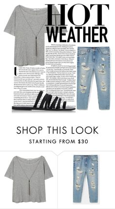 """Lazy day out"" by nickenrn ❤ liked on Polyvore featuring MANGO, Violeta by Mango and Ancient Greek Sandals"