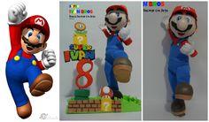 Fofucho Super Mario Bros!!! Son geniales para la decoración de mesa, con detalles de la ambientación