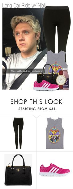 """Long Car Ride w/ Niall"" by beccalynnward ❤ liked on Polyvore featuring Topshop, Junk Food Clothing, Prada, adidas and FOSSIL"