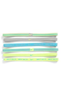 Nike Headbands. Too bad they don't stay in my hair!
