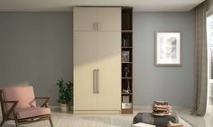 Sparrow Wardrobe - Simplet, yet Practical  https://www.mygubbi.com/newproduct-details-sparrow-wardrobe
