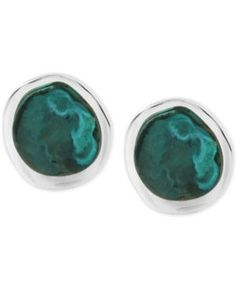 Robert Lee Morris Soho Silver-Tone Patina Sculptural Stud Earrings  - Silver