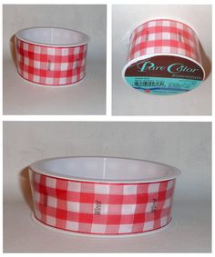 Red White Gingham Check Wax Paper Sheets For Weddings