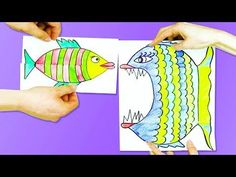 origami fish easy for kids Easy Fish Drawing, Fish Drawing For Kids, Easy Drawings For Kids, Fish Paper Craft, Paper Folding Crafts, Cool Paper Crafts, Mouse Crafts, Easy Easter Crafts, Paper Crafts For Kids