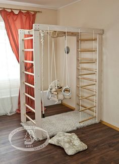 kids gym in room Kids Bunk Beds, Toy Rooms, Kids Room Design, Playroom Design, Kid Spaces, My New Room, Kids Furniture, Furniture Design, Bedroom Furniture
