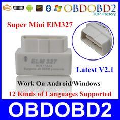 Pabrik Harga OBD2 Diagnostik Scanner ELM327 Bluetooth V2.1 Mini ELM 327 Bluetooth OBDII Untuk Android Windows Symbian Kapal Gratis