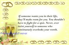 Precious Family: If someone wants you in their life ......