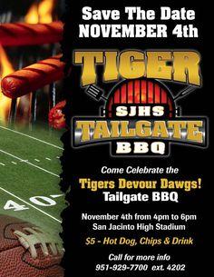 SJHS Tailgate BBQ flyer