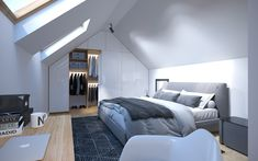 Attic Design, Bed, Furniture, Home Decor, Decoration Home, Room Decor, Home Furniture, Interior Design, Beds