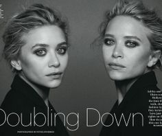 Les Beehive – Ashley Olsen and Mary Kate Olsen by Peter Lindbergh for Allure, December 2013