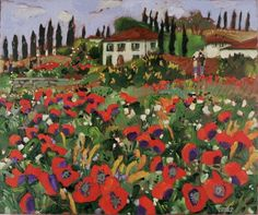 Claude A. Simard, R.C.A. (1943-2014) Poppies in Tuscany, 2010