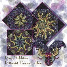 Patternista Dragon Feathers by Paula Nadelstern Kaleidoscope Quilt Kit