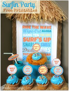 Party Free Printables Set One of the benefits of living in FL. you can have a surf b day party. at the beach!One of the benefits of living in FL. you can have a surf b day party. at the beach! First Birthday Parties, Birthday Party Themes, First Birthdays, 2nd Birthday, Birthday Ideas, Kid Parties, Mermaid Birthday, Party Printables, Free Printables