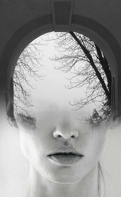 """""""I know a 'face' where the wild thyme blows, Where oxlips and the nodding violet grows, Quite over-canopied with luscious woodbine, With sweet musk-roses and with eglantine."""" William Shakespeare, A Midsummer Night's Dream   invisible vision by Antonio Mora"""