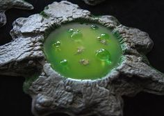 More Realistic Terrain – Toxic Slime Pits Tutorial Part 2 | Wargaming Hub - just great for those Halloween and wizardly scenes