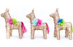 Gold Pinata/Donkey Pinata/Piñata/Weddings and by LaPinataParty