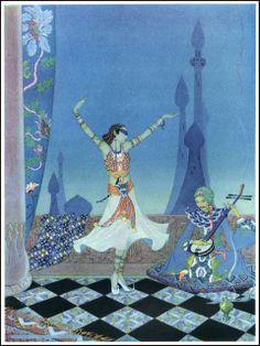 andreicoscodan: Arabian Nights - Hildegarde...   books, paper, scissors