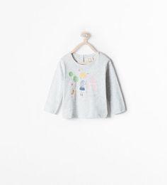 ZARA - KIDS - LONG-SLEEVED GRAPHIC T-SHIRT
