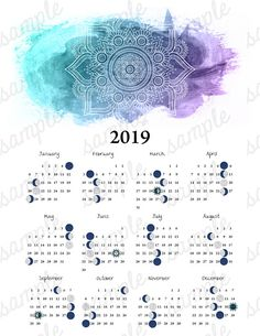 Moon Salutation 2019 Moon Phase Calendar Lunar Cycle Astronomy