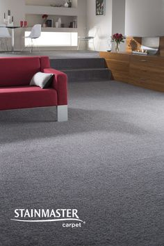 With a neutral carpet colour you can be more daring with furniture and décor…