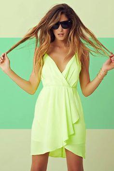 Fun neon summer dress
