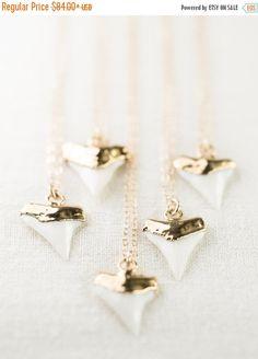SPRING SALE Mano-niho-kahi necklace - gold shark tooth necklace, white gold shark tooth, gold dipped shark tooth necklace, beach, boho jewel by kealohajewelry on Etsy https://www.etsy.com/listing/207580576/spring-sale-mano-niho-kahi-necklace-gold