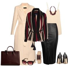 outfit 3121 by natalyag on Polyvore featuring Lanvin, Joseph, Equipment, Jimmy Choo, Caravelle by Bulova, Ek Thongprasert, Fiorelli, women's clothing, women's fashion and women