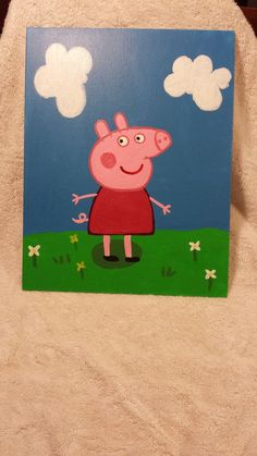 Peppa Pig TO BUY Comment with your email address and you&;ll receive a secure checkout link. Peppa Pig TO BUY Comment with your email address and you&;ll receive a secure checkout link. Small Canvas Paintings, Easy Canvas Art, Small Canvas Art, Simple Acrylic Paintings, Mini Canvas Art, Acrylic Painting Canvas, Diy Painting, Painting Meme, Disney Canvas Art