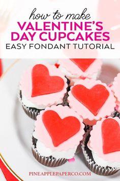 Easy Fondant Cupcake