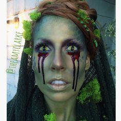 #Swampthingmakeup  look created by Amy Clarke #theamyclarke #halloweenmakeup @theamyclarke  #costumeideas